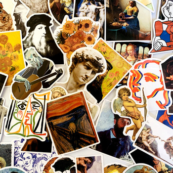 50/100PCS DAVID Stickers for Kids Laptop Car Decal Fridge Skateboard Rock Music Sticker Toy 2020 - discount item  10% OFF Stationery Sticker