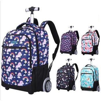 Plecaki szkolne na kółkach wózek na kółkach walizka na kółkach dla dzieci wózek na kółkach walizka na kółkach tanie i dobre opinie IGETBAG NYLON CN (pochodzenie) Spinner SLN88036-8 bagaż Unisex