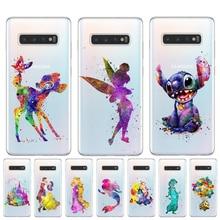 Watercolour Art Snow White Tinker Bell Stitch Mermaid Case For Coque Samsung Galaxy S10 S9 S8 Plus S6 S7 Edge S10E Lite 5G Cover