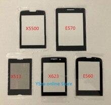 Em estoque!! Para philips xenium e570 e571 e560 x623 x513 x5500 painel frontal não tela de toque display vidro do telefone móvel substituição