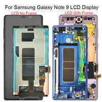 Для samsung Galaxy Note 9 N960 N950F N960D N960DS жк дисплей кодирующий преобразователь сенсорного экрана в сборе с рамкой замена 100% T