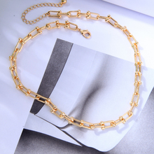 Chain Pendant Choker Necklace Statement Cheap Jewelry Collares Gift Gold-Color Women