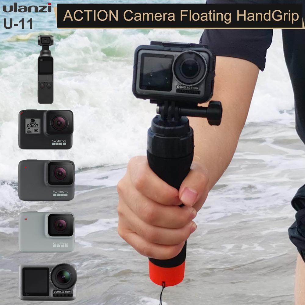 Ulanzi U-11 bâton flottant universel pour Gopro Osmo Action EKEN Yi Scjam natation flotteur Selfie monopode Action caméra Accessoires