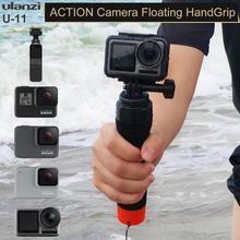 Ulanzi U 11 evrensel Floaty sopa Gopro Osmo eylem EKEN Yi Sjcam yüzmek şamandıra Selfie monopodu eylem kamera aksesuarları