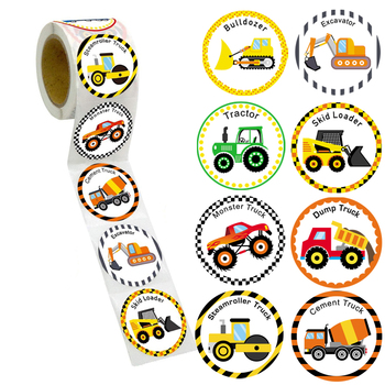 Cars And Truck Stickers Party Supplies Pack Toddler For Kids Perforated Roll Construction Sticker Car Home Family Birthday - discount item  29% OFF Stationery Sticker