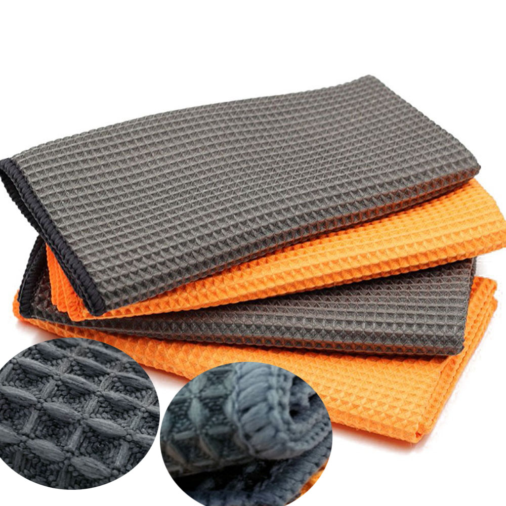 Cleaning-Towel Pineapple-Grid Washing-Cloth Microfiber Car Car-Care Super-Absorbent Kitchen