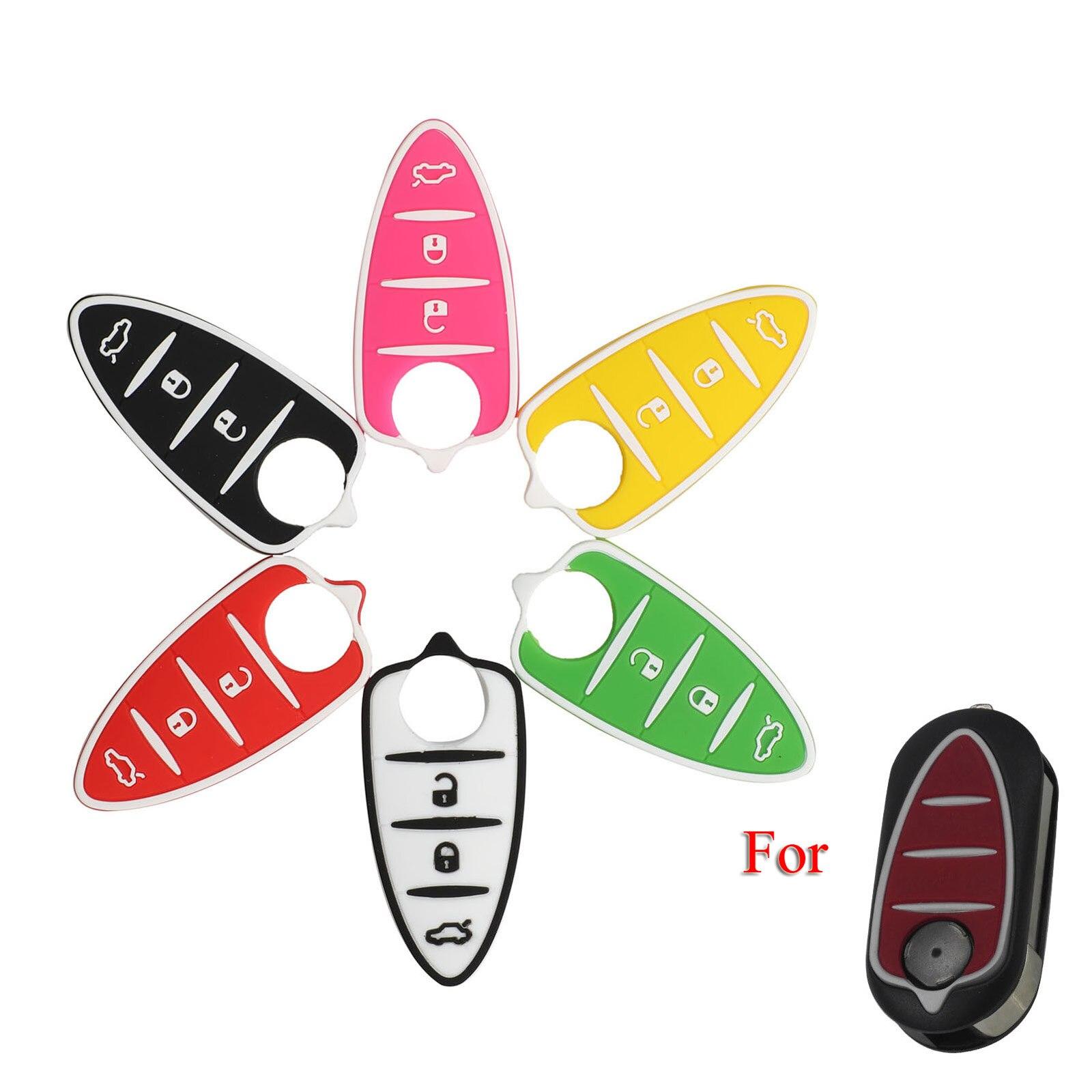 Kutery almofada de botão chave do carro para alfa mito giulietta gt 4c acessórios 3 botões remoto chave escudo fob capa caso almofada substituição