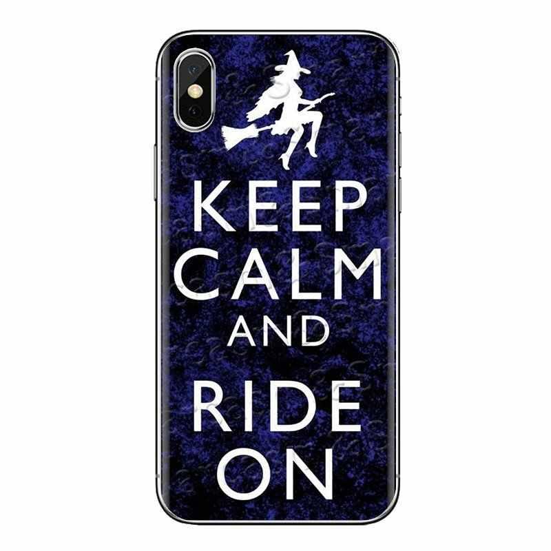 Keep Calm and Ride On Horse Bike For Sony Xperia Z Z1 Z2 Z3 Z5 compact M2 M4 M5 E3 T3 XA Aqua LG G4 G5 G3 G2 Mini TPU Skin Cover