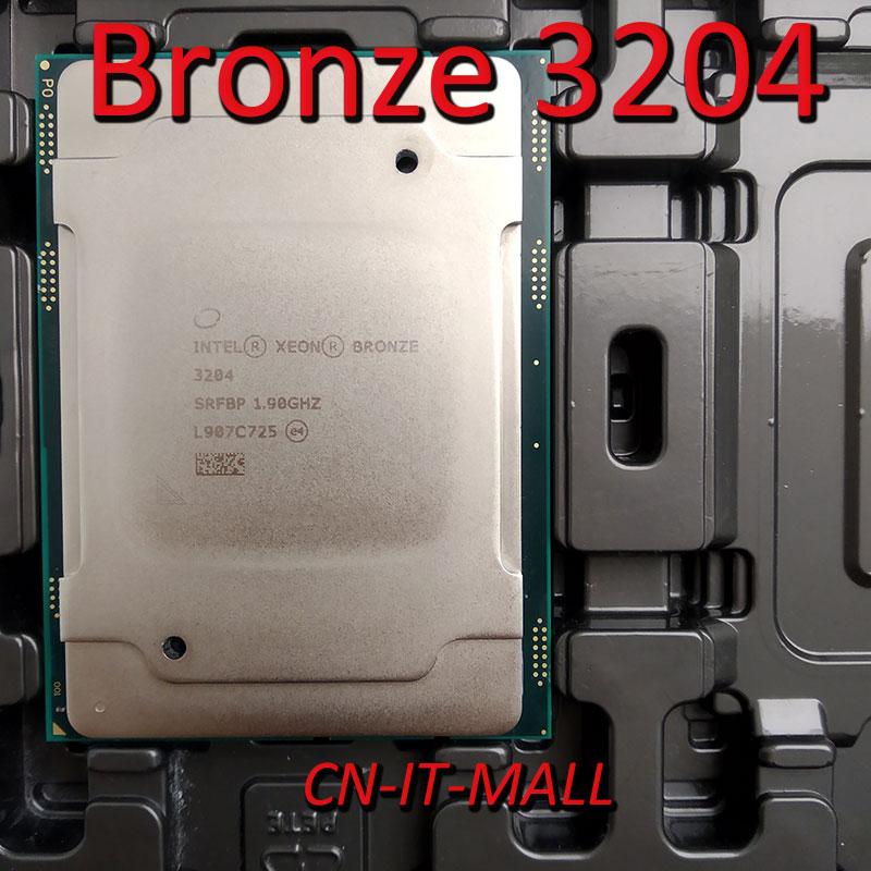 Intel Xeon Bronze 3204 CPU 1.9GHz 8.25M 6 Core 6 Threads LGA3647 Processor