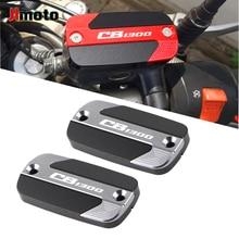 Alta calidad accesorios de la motocicleta CNC líquido de cilindro maestro de freno cubierta de Depósito tapa de aceite para HONDA CB 1300 CB1300 1997 2016