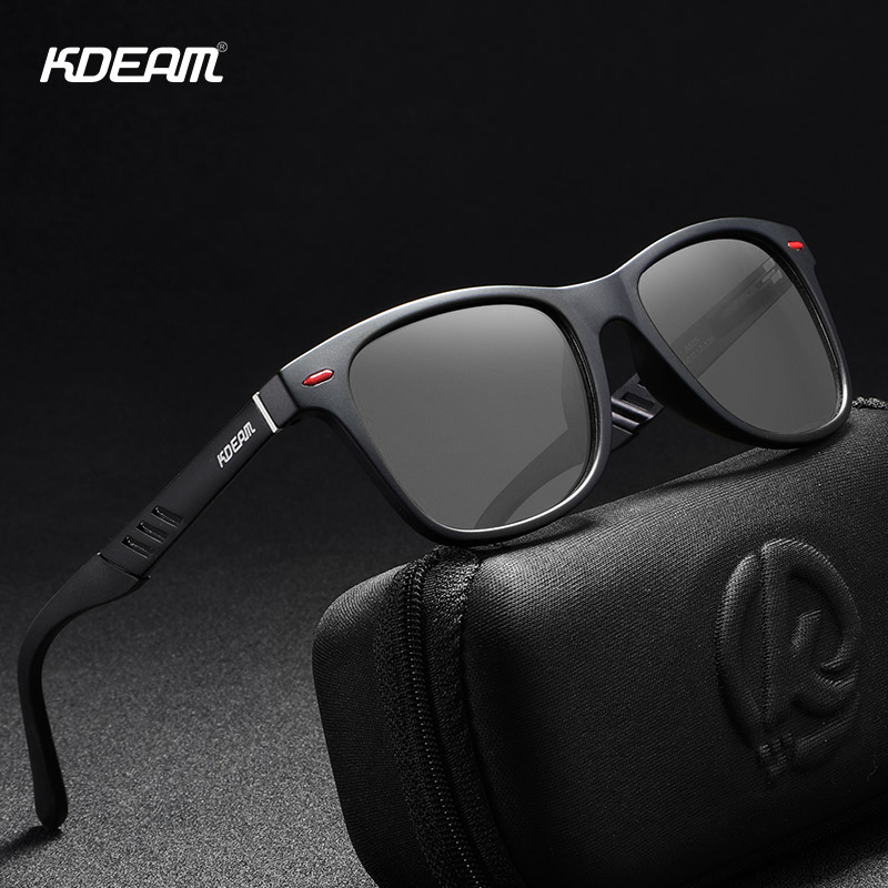 KDEAM Photochromic And Polarized Sunglasses Men Navigational Aluminum Magnesium Frame Men's Glasses UV400 Night Vision Goggles