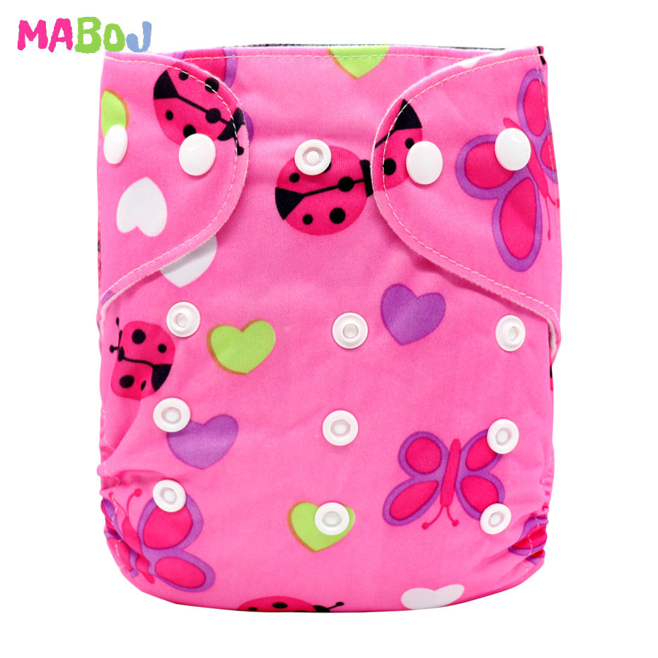MABOJ Diaper Baby Pocket Diaper Washable Cloth Diapers Reusable Nappies Cover Newborn Waterproof Girl Boy Bebe Nappy Wholesale - Цвет: PD5-5-7