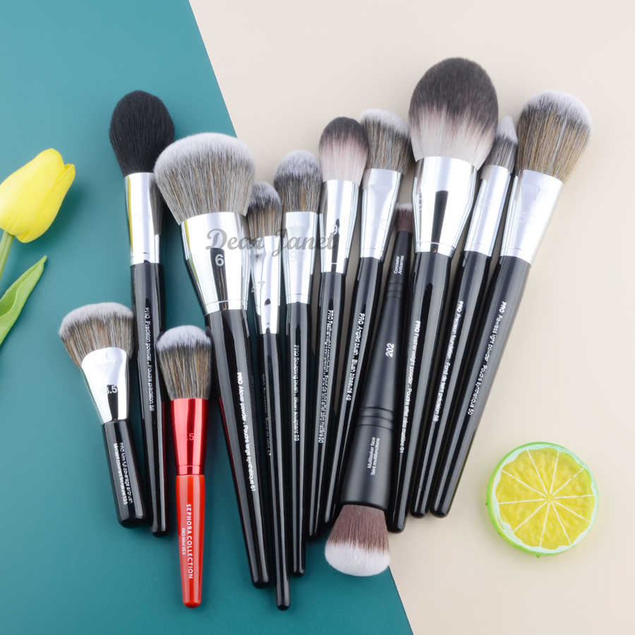 Professionele Make-Up Kwasten Grote Allover Poeder Contour Foundation Fan Beeldhouwen Precision Angled Blusher Kabuki Airbrush Make Up