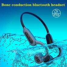 IPX8 עמיד למים אלחוטי אוזניות 2in1 Bluetooth הולכה עצם אוזניות + MP3 נגן בס ספורט אוזניות עם מיקרופון 16GB