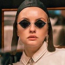 Luxury Designer Tinted Color Lens Square Eyewear Women Small Frame Sunglasses UV