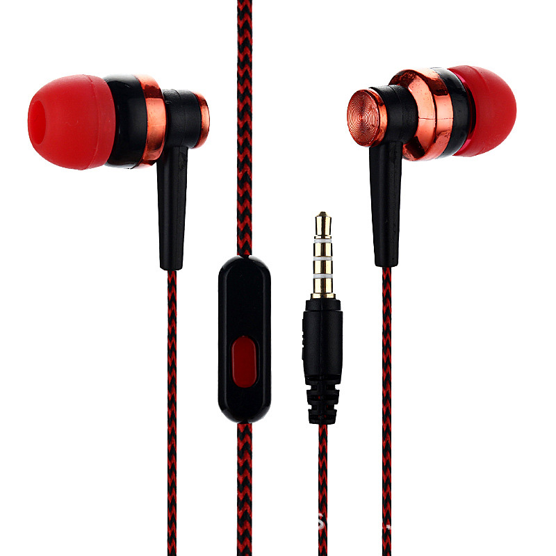 Wired Earphone In-Ear Sport Headset With Built-in Microphone 3.5mm Hifi Headphone For Samsung Galaxy S6 Wired Smartphone