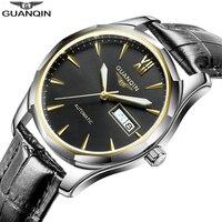 GUANQIN 2019 Mechanical Watch Japan Miyota Automatic movement watch men clock gold waterproof date clock men Relogio Masculino