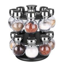 Вращающийся специй баночки для шкафа соль специи перец острый