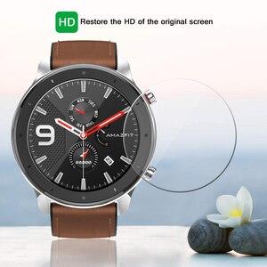 Image 3 - 2019 yeni 9H temperli cam ekran koruyucu için AMAZFIT GTR 42mm 47MM akıllı saat Anti Scratch kapak koruyucu şeffaf Film