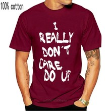 I Really Don'T Care Do You? Melania Trump Printed on Back Summer 2020 100% Cotton Printed Pure Cotton Men'S Cheap Tee Shirts