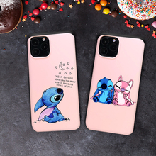 Phone Case for iPhone 11 Pro XS Max Cartoon Stitch Cover Soft Silicone Cases for iPhone X XR 8 7 6 6S Plus 5S SE Coque Cover wood floral soft silicone edge mobile phone cases for apple iphone x 5s se 6 6s plus 7 7plus 8 8plus xr xs max case