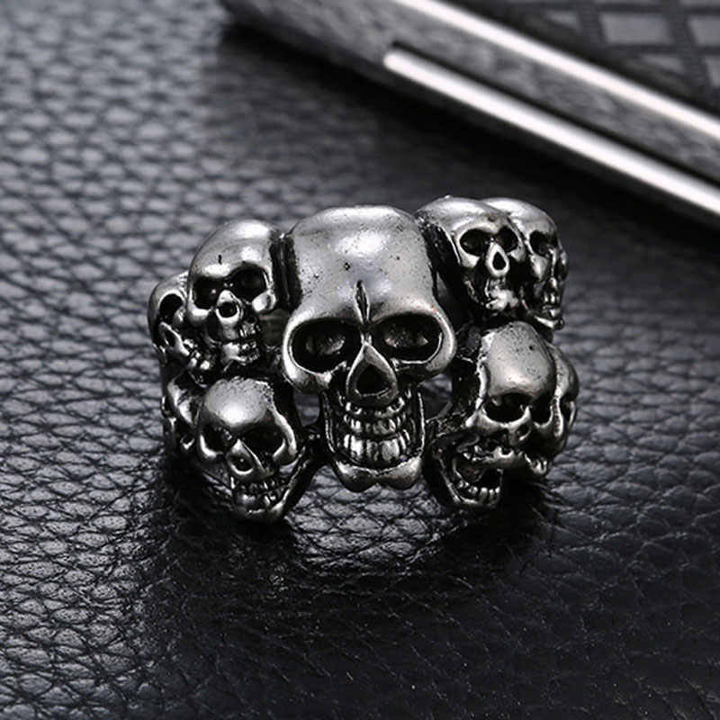 Vintage Men Ring Jewelry for Women Gothic Punk Skull Jewelry Rings Male Anniversary Gifts for Men Hip Hop