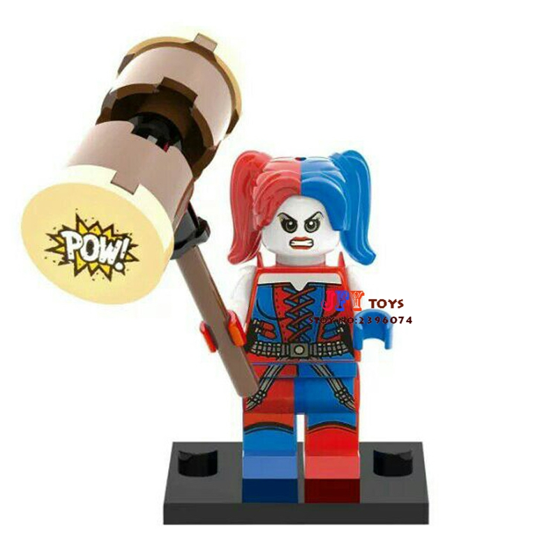 Single Sale Superhero SDCC Harley Quinn Building Blocks Model Bricks Toys For Children Action Figures