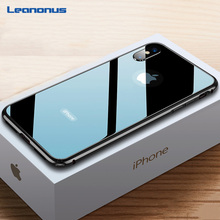 Ultra Thin 9H Tempered Glass Case For iPhone 7 8 Plus XS Case Metal Frame Anti knock Cover For iPhone X XR XS Max 7 8 Plus Coque