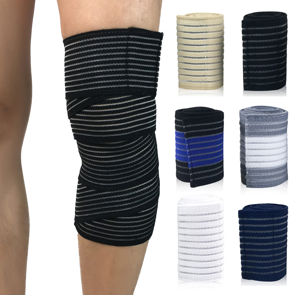 Sports Protective Gear Protection Knee Wraps Elastic Bandages Compression
