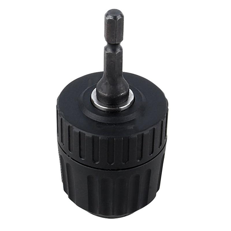 Keyless Drill Chuck Converter 3/8 Inch 24UNF + 1/4 Inch Hex Shank SDS Adaptor 0.8-10mm
