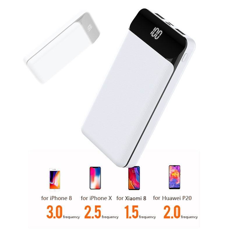For Xiaomi Mi Power Bank 20000mAh Portable External Battery Charger Dual USB Powerbank Fast Charge Poverbank 20000 mAh For Phone|Power Bank| |  - title=