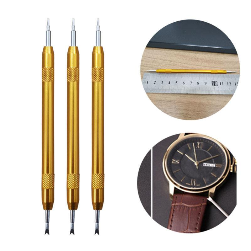 Black Banded Double-headed Raw Ear Batch Yellow Interchangeable Watch Strap Disassembly Clock Repair Tool Aluminum Alloy Ear