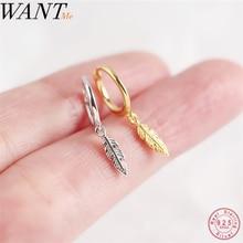 Женские маленькие серьги-пусеты WANTME, модные минималистичные серьги из настоящего серебра 925 пробы, вечерние ювелирные изделия на день рожде...