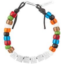 AMBUSH 925 Square letters colorful glazed beads hip hop bracelets fashionable couples Exquisite box packing