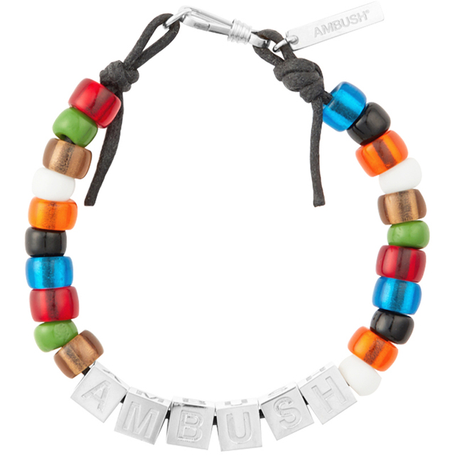 AMBUSH 925 Square letters colorful glazed beads hip hop bracelets fashionable couples Exquisite box packing