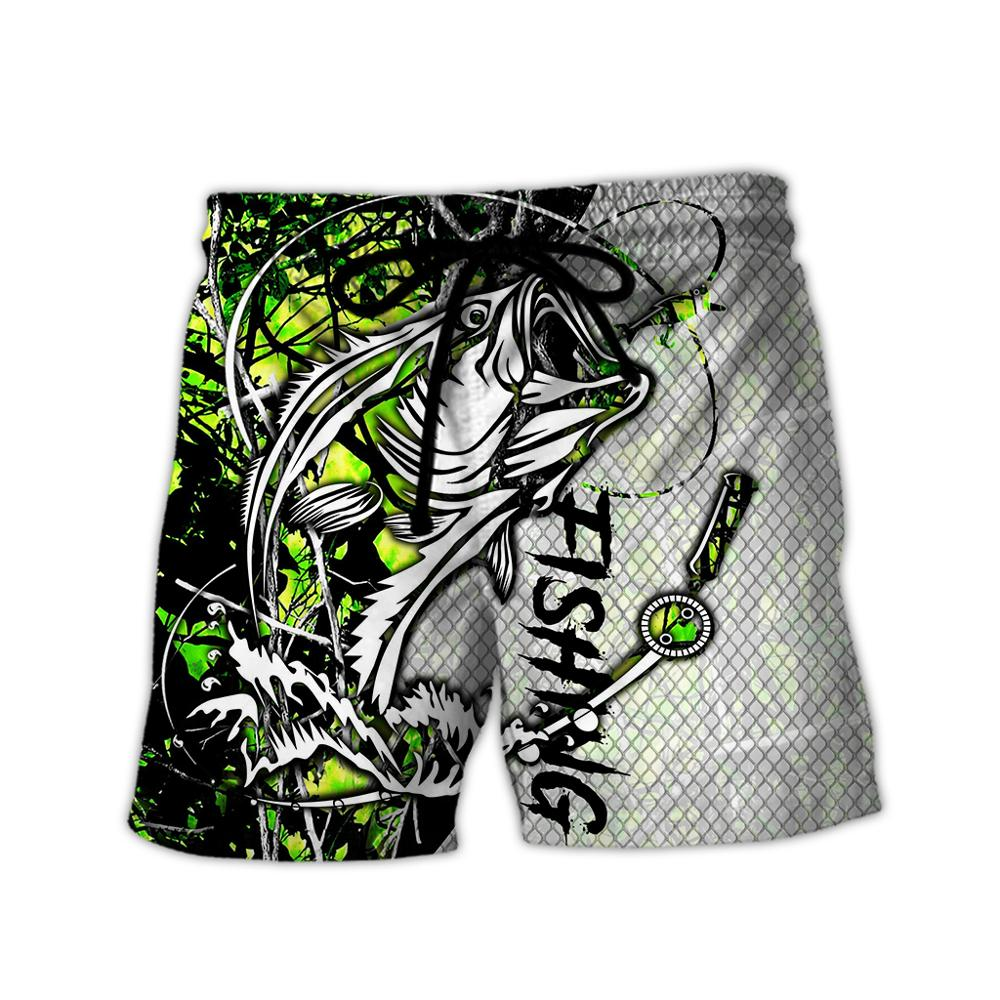 PLstar Cosmos 2020 New Summer Fashion Shorts Fishing&hunting Deer 3D Printed Male/Female Streetwear Casual Cool Shorts 02