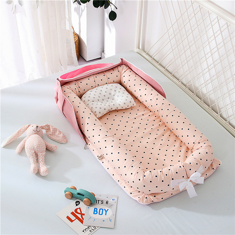 Portable Baby Crib Nursery Travel Folding Baby Bed Bag Cotton Cradle for Newborn Baby Bed Bassinet Bumper Baby room decoration