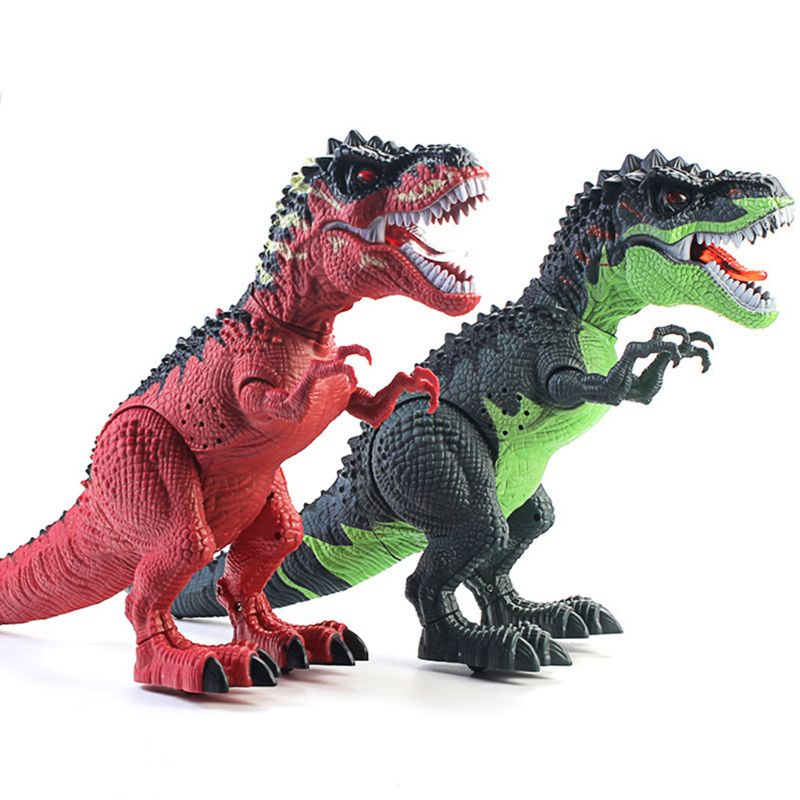 T-Rex Dinosaur Model Simulation Walking Light Projection Electric Boys Toy R7RB