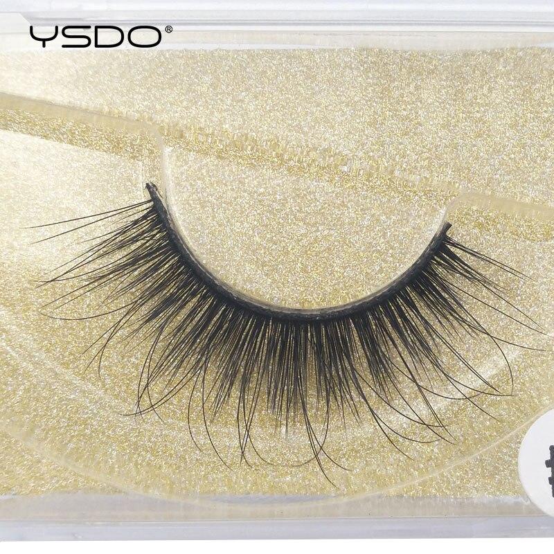 YSDO 1 pair mink eyelashes natural long 3d mink lashes hand made false eyelashes lashes makeup mink false eyelash fluffy lashes in False Eyelashes from Beauty Health