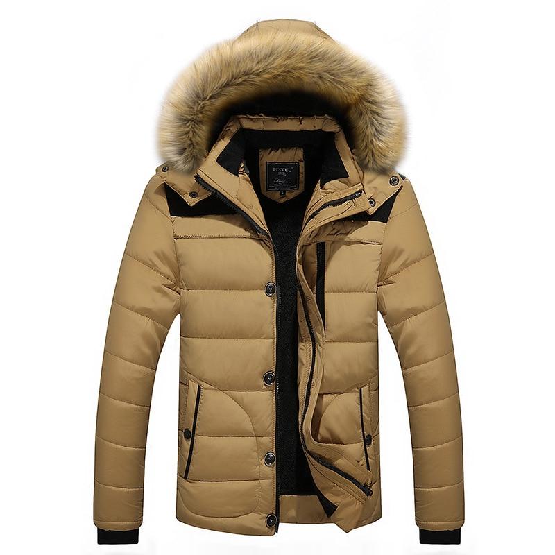 Chaqueta de invierno para hombre, abrigo polar de terciopelo grueso y cálido, Parkas, cortavientos, Erkek Mont, talla grande