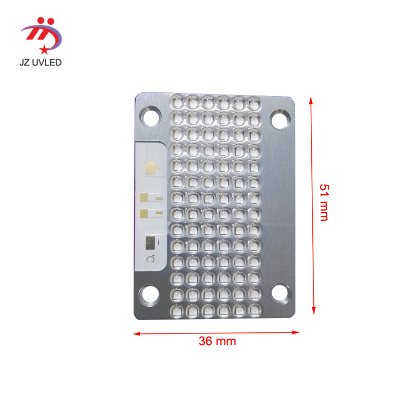 <font><b>UV</b></font> <font><b>LED</b></font> COB splicing module forUV flatbed printer furniture <font><b>UV</b></font> varnish baking dry curing <font><b>UV</b></font> <font><b>LED</b></font> lamp 51*36mm image