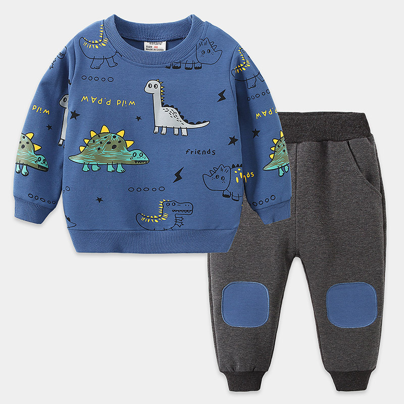 Newborn Kids boys clothes set long sleeves Baby boy tops +pants 2pcs fashion toddler baby clothing 1