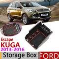 สำหรับ FORD KUGA MK2 Ford Escape MK3 Pre-Facelift 2013 ~ 2016 กล่องกล่องเก็บจัดเก็บรถ Organizer อุปกรณ์เสริม 2014 2015
