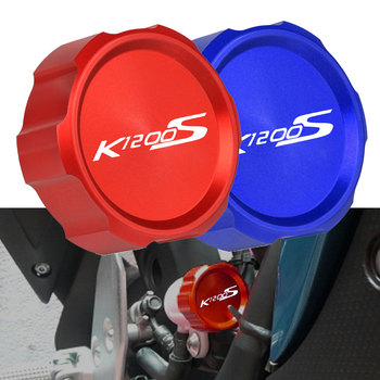 For BMW K1200S K 1200S K1200 S 2005 2006 2007 Motorcycle CNC Rear Brake Pump Fluid Tank Oil Cup Reservoir Guard Cover Protector image