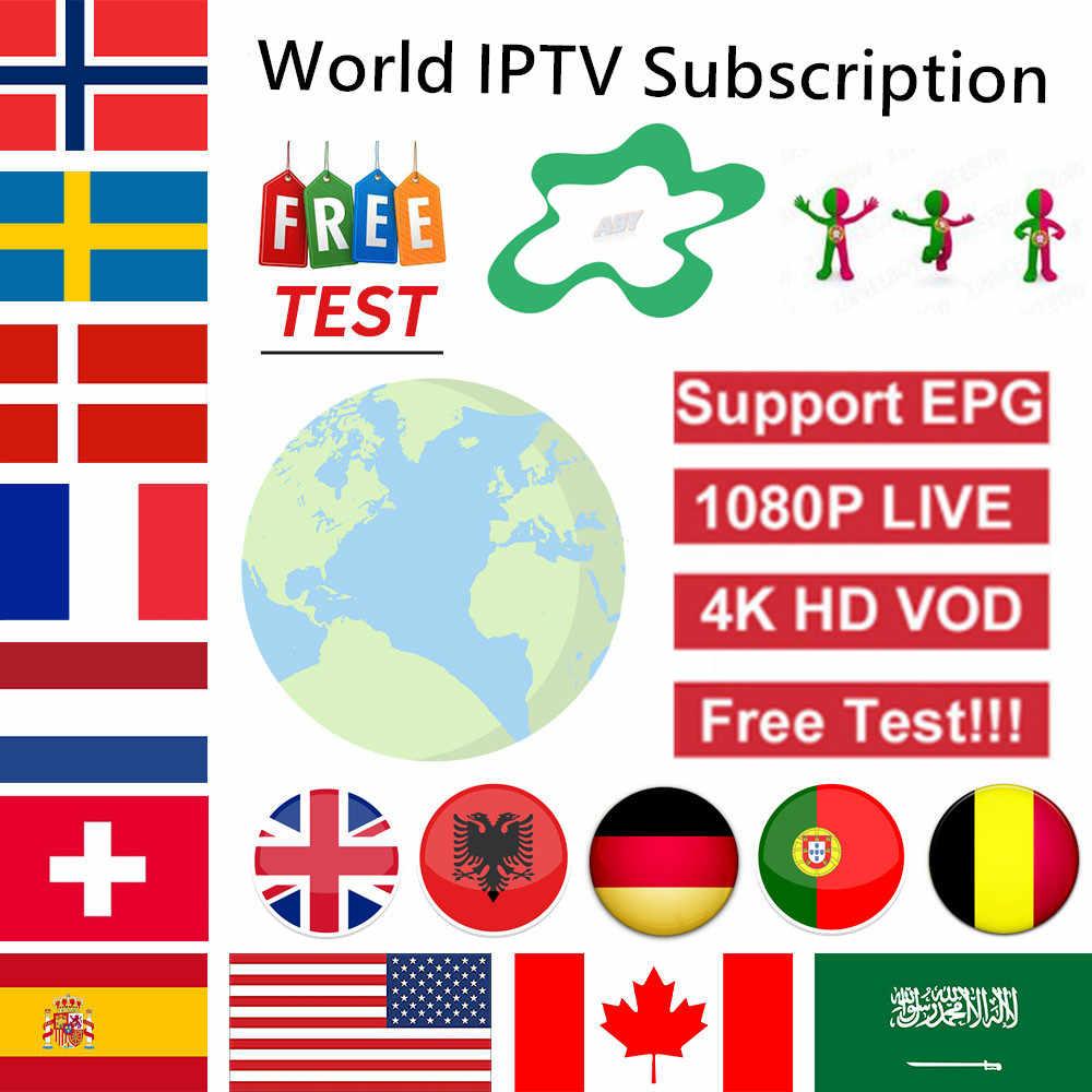 1 Year 9000+Live Europe IPTV French Spain Dutch Arab