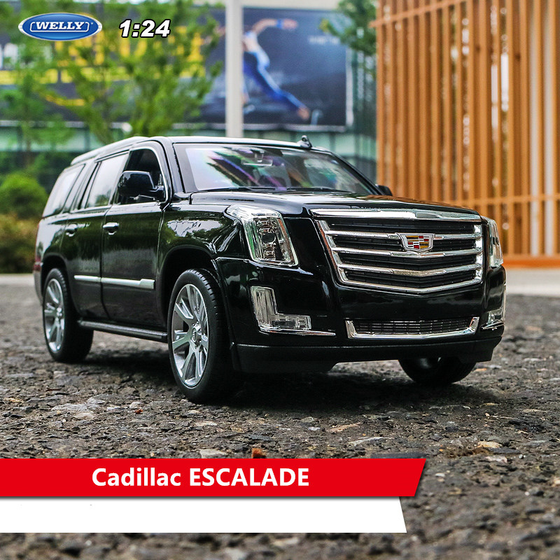 Welly 1:24 2017 Cadillac   Car Alloy Car Model Simulation Car Decoration Collection Gift Toy Die Casting Model Boy Toy