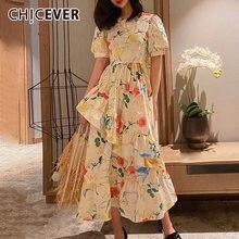 Женское платье с круглым вырезом chicever трапециевидной формы