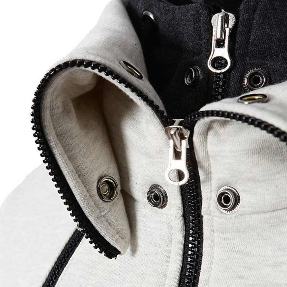 Felpe Uomini Manica Lunga Antivento Collare Felpa Con Cappuccio Maschile Felpa Con Cappuccio da Uomo Streetwear Moletom Masculino Cotone Nuovo