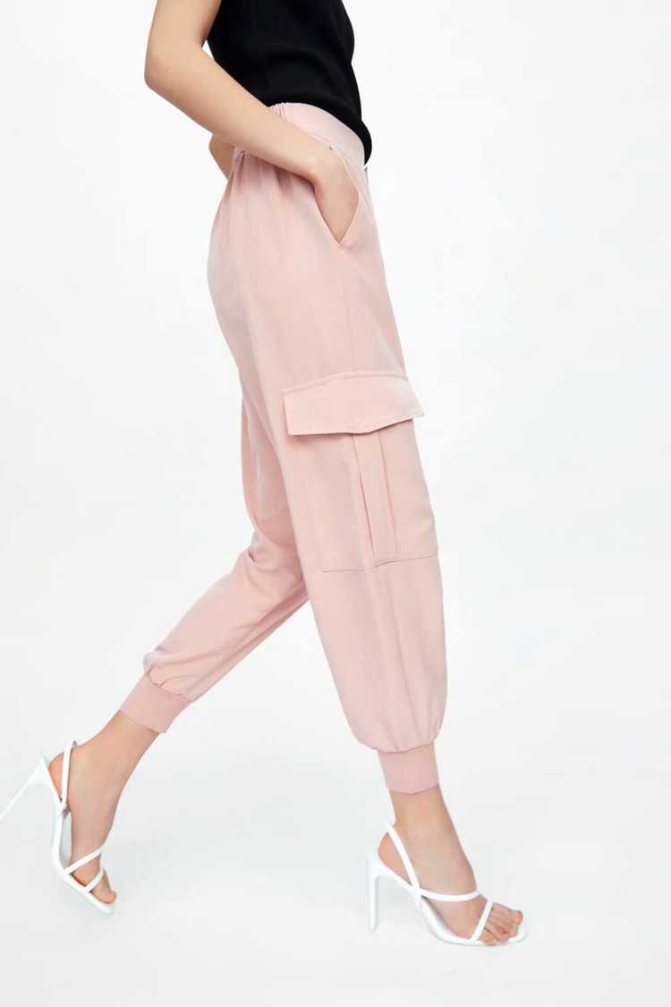 Fdfklak primavera verano Mujer Pantalones europeos y americanos nuevos salvajes de cintura alta Pantalones Casual suelto Pantalon moda monos