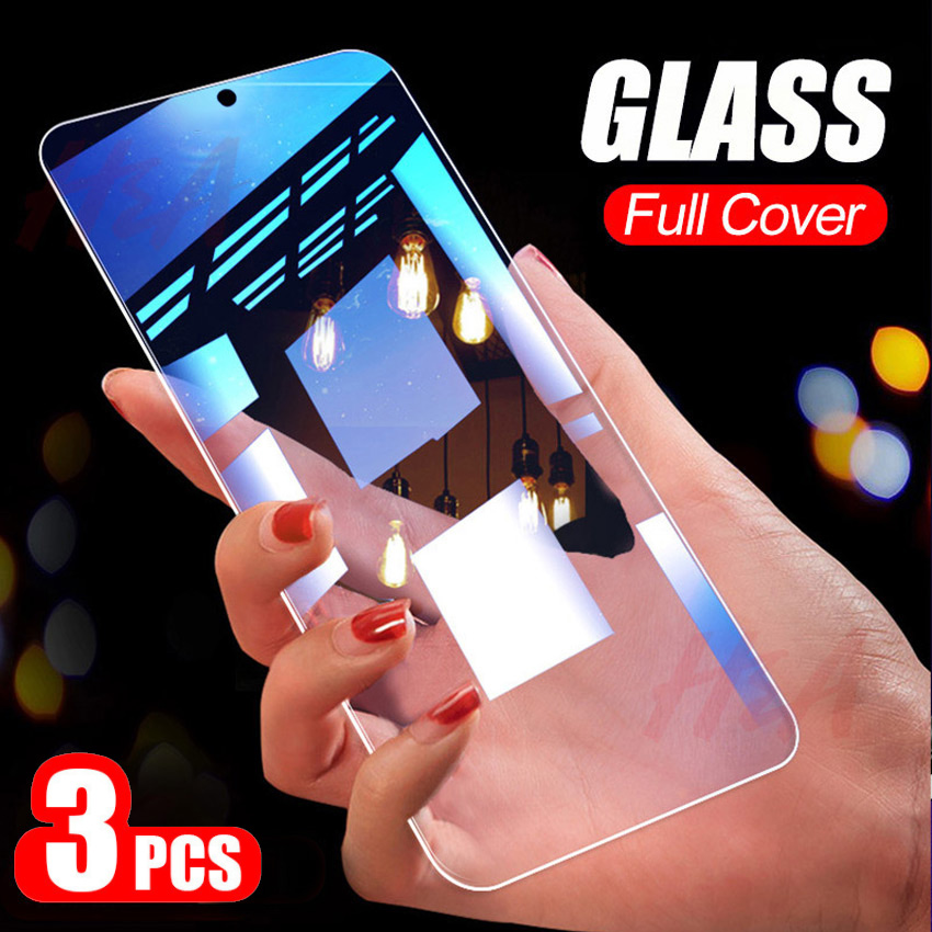 3Pcs Protective Glass On The For Samsung Galaxy A40 A50 A20 A30 M10 M20 M30 A20E Tempered Screen Protector A90 A70 A60 A10 Glass